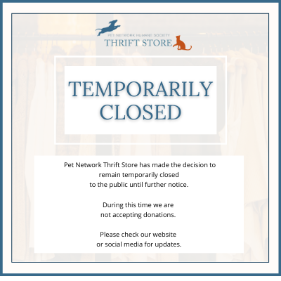 Temporarily Closed - Thrift Store